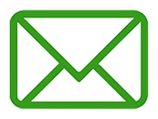email splashed hydrographics, picture of a email icon that is green