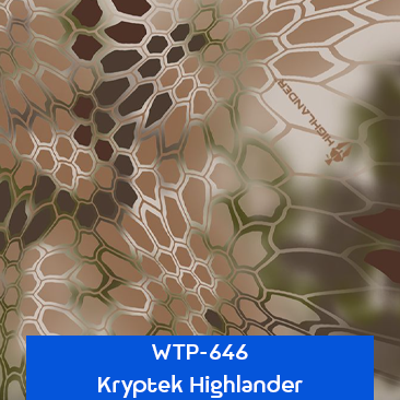 kryptek highlander hydro dipping film