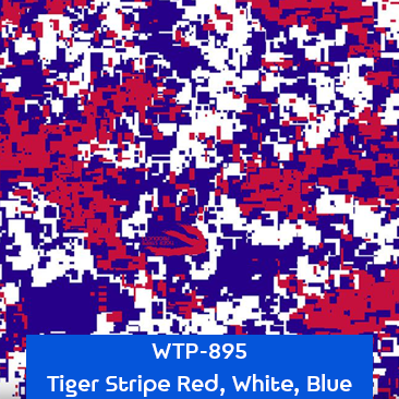 tiger stripe red white blue camouflage
