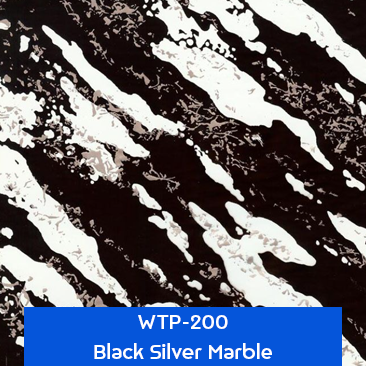 black silver marble stone hydrographics film