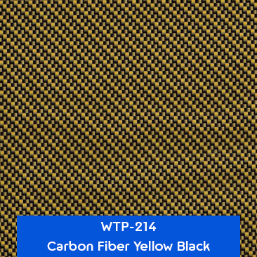 carbon fiber yellow black hydro dipping film