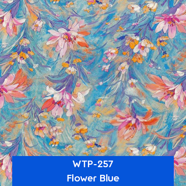 flower blue designer hydrographics