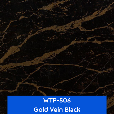 gold vein black stone water transfer printing pattern