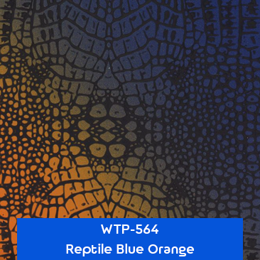 reptile blue orange hydro dipping film