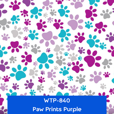paw prints purple designer hydrographics