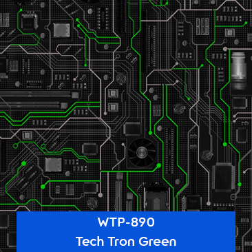 tech tron green designer hydrographics