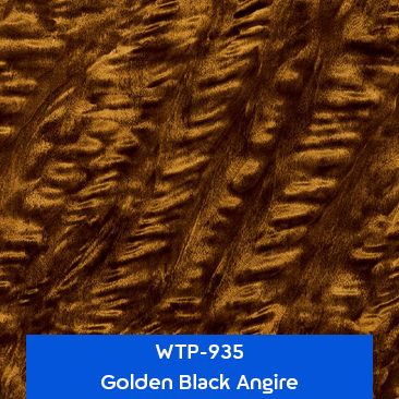 golden black angire wood hydrographics