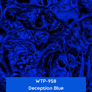 deception blue hydro dipping film